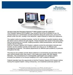 Chronic Pain and Spinal Cord Stimulation FAQ
