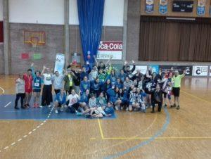 LRG charity run in a school of Coruña